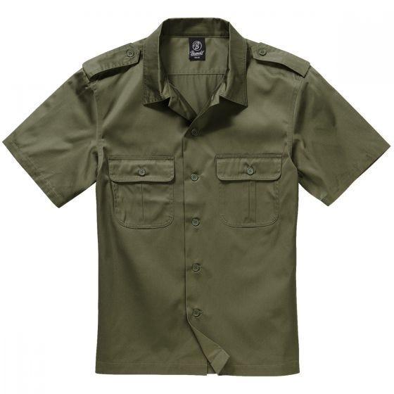 Brandit US Overhemd met Korte Mouwen - Olijf