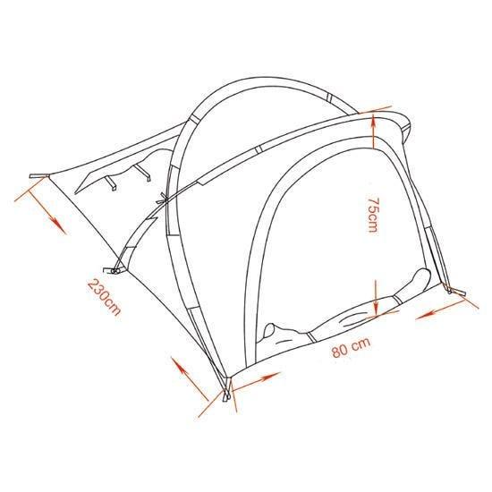 MFH Osser Tent met Aluminium Frame - OD Groen