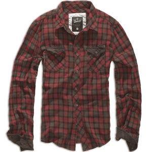 Brandit Duncan Geruit Overhemd - Rood/Bruin