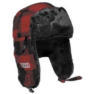 Fox Outdoor Lumberjack Bontmuts - Rood/Zwart