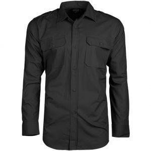 Mil-Tec Overhemd met Lange Mouwen RipStop - Zwart