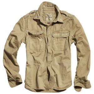 Surplus Overhemd met Lange Mouwen - Beige