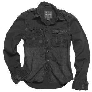 Surplus Overhemd met Lange Mouwen - Zwart